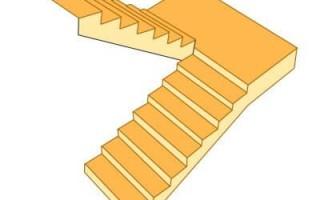 Расчет лестницы с поворотом на 180°: калькулятор