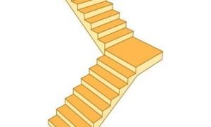 Расчет лестницы с поворотом на 90°: калькулятор