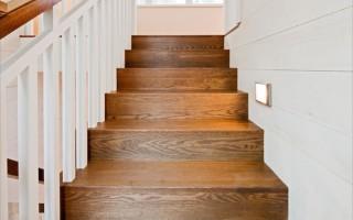Лестница из ламината — как обшить?