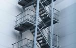 Пожарная лестница наружная: ограждение, настилы