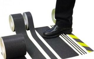 Противоскользящая лента на ступени для улицы