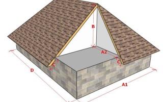 Расчет вальмовой крыши: онлайн калькулятор, чертежи