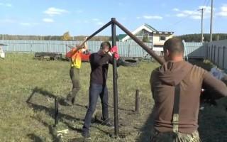 Установка винтовых свай вручную, пошаговая инструкция