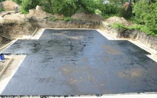 Гидроизоляция фундаментной плиты: способ гидрозащиты
