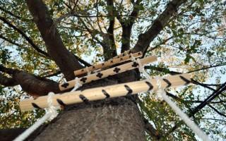 Как сделать веревочную лестницу своими руками?