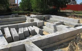 Строительство блочного фундамента, пошаговая инструкция
