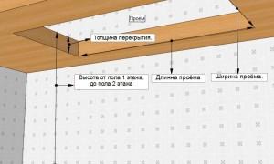 Лестничный проем на второй этаж: резка, размеры