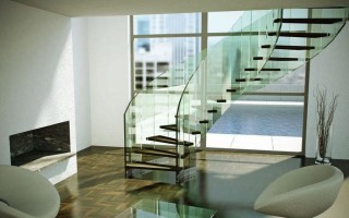 Стеклянные ограждения для лестницы