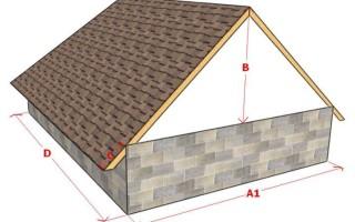 Расчет двускатной крыши: онлайн калькулятор, чертежи