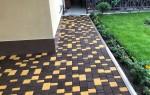Укладка тротуарной плитки на отмостку вокруг дома