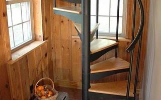 Расчет винтовой металлической лестницы: калькулятор