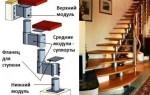 Модульная лестница своими руками из металла: чертежи