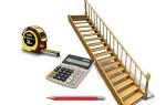 Расчет прямой лестницы на тетивах: калькулятор