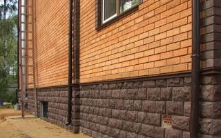Облицовка цоколя деревянного дома снаружи: варианты
