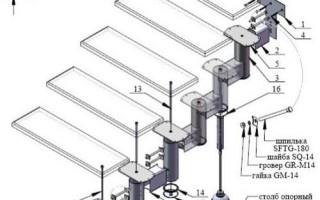 Модульные лестницы: модули, сборка, расчет