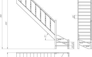Лестница в доме на второй этаж размеры и схемы