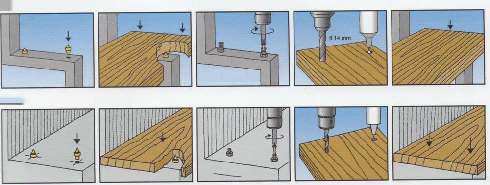деревянные ступени на металлическом каркасе