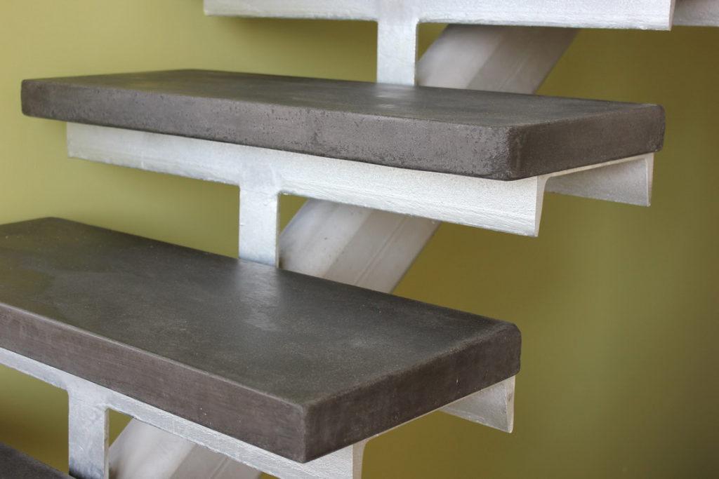 монолитные ступени из керамогранита