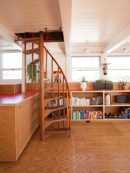 Винтовая лестница в скандинавском стиле