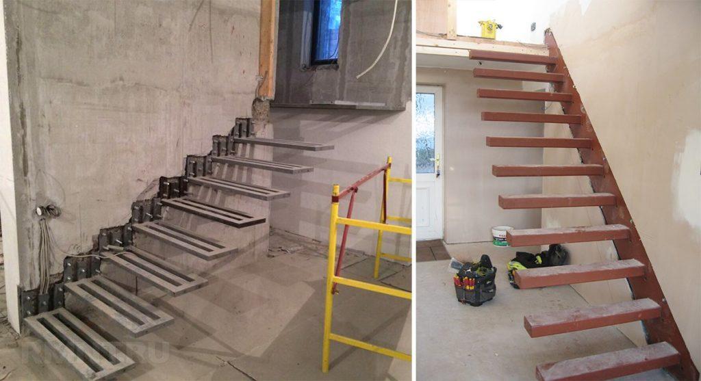 монтаж консольной лестницы