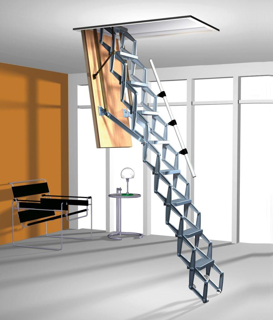 ножничная лестница на чердак