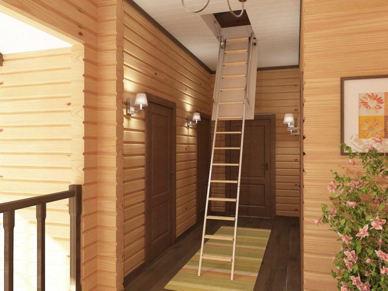 складная лестница на мансардный этаж