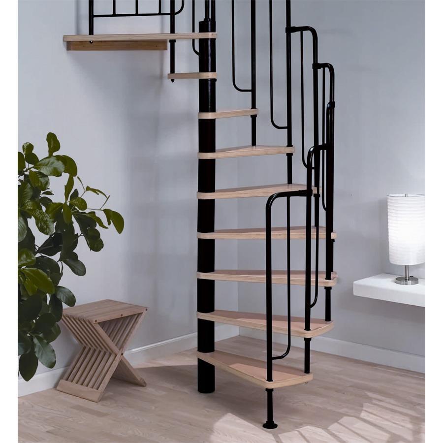 металлическая винтовая лестница на балясинах