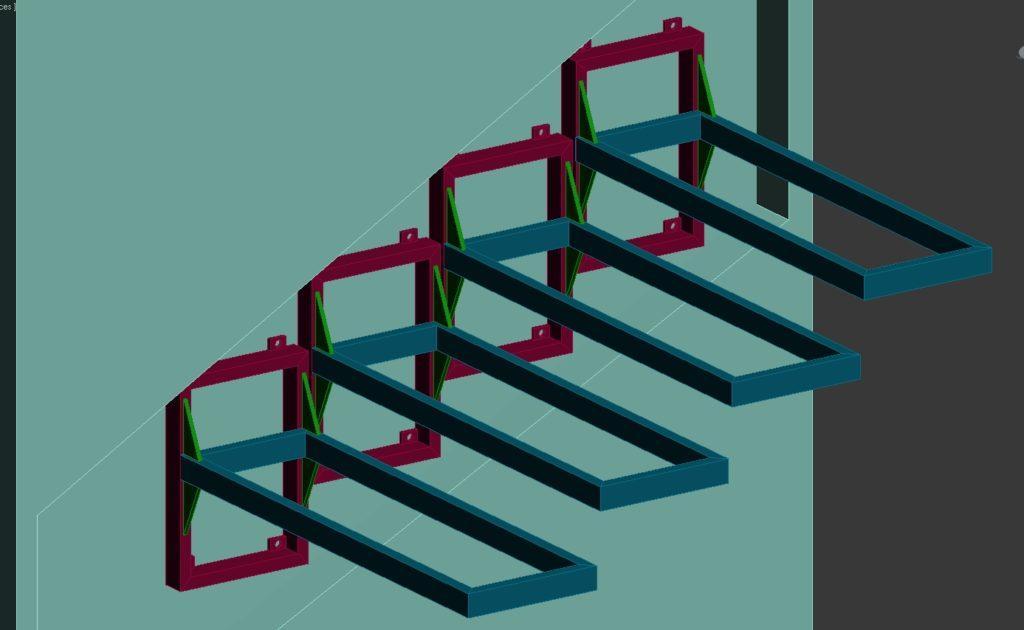 кронштейн консольной лестницы