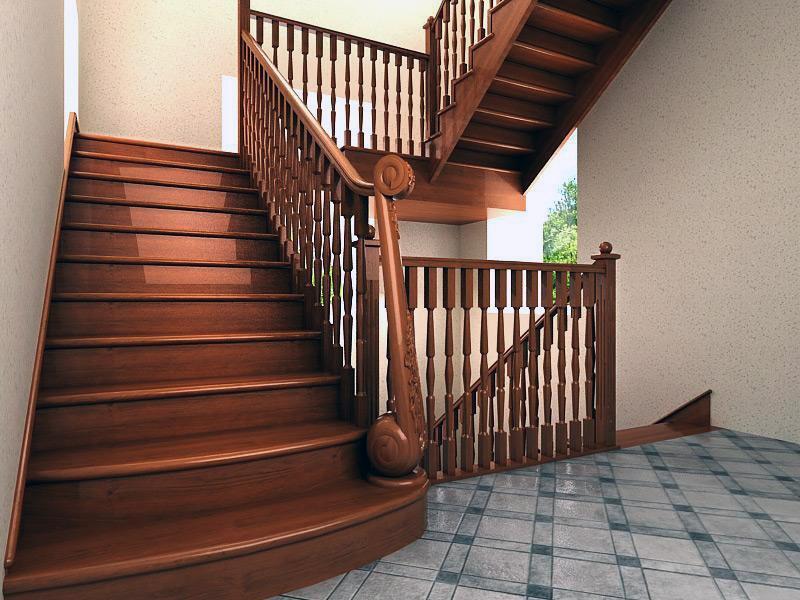 ширина марша поворотной лестницы