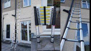 применение телескопической лестницы
