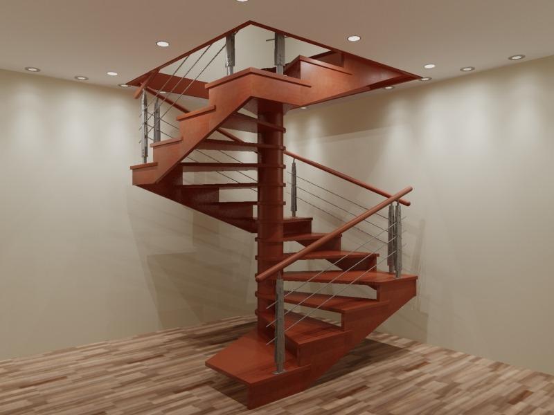 квадратный проем винтовой лестницы