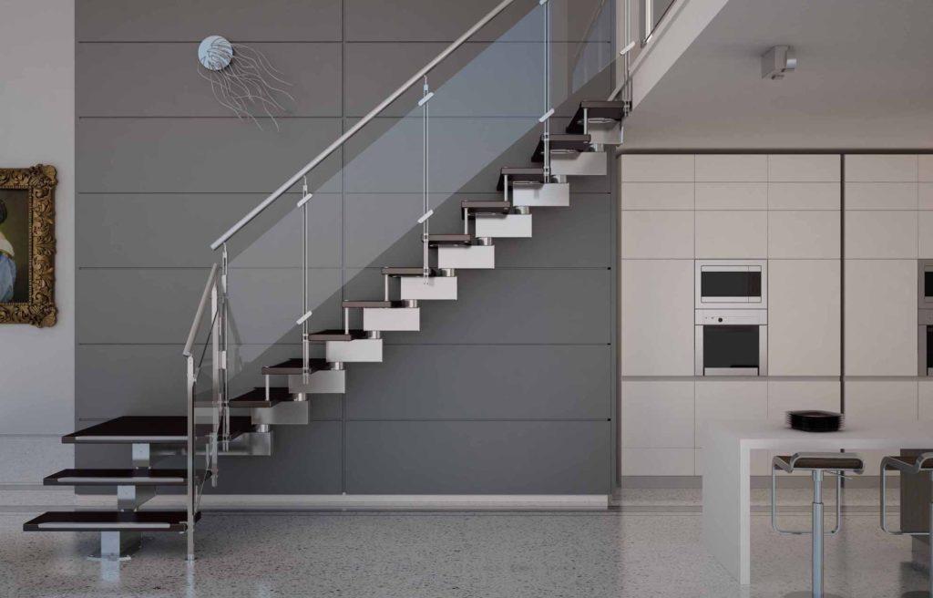 хай-тек стиль с лестницей