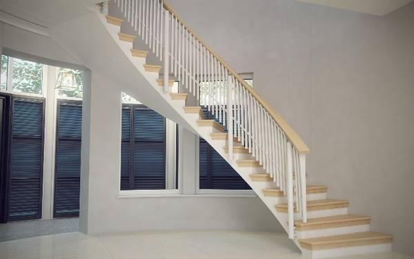 изогнутая лестница в скандинавском стиле
