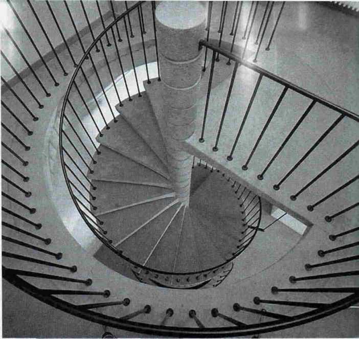 бетонная модульная винтовая лестница