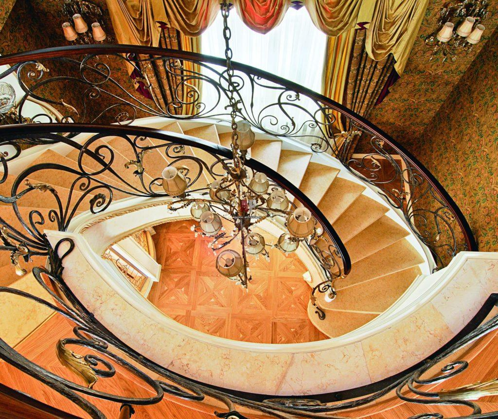кованые лестницы в интерьере