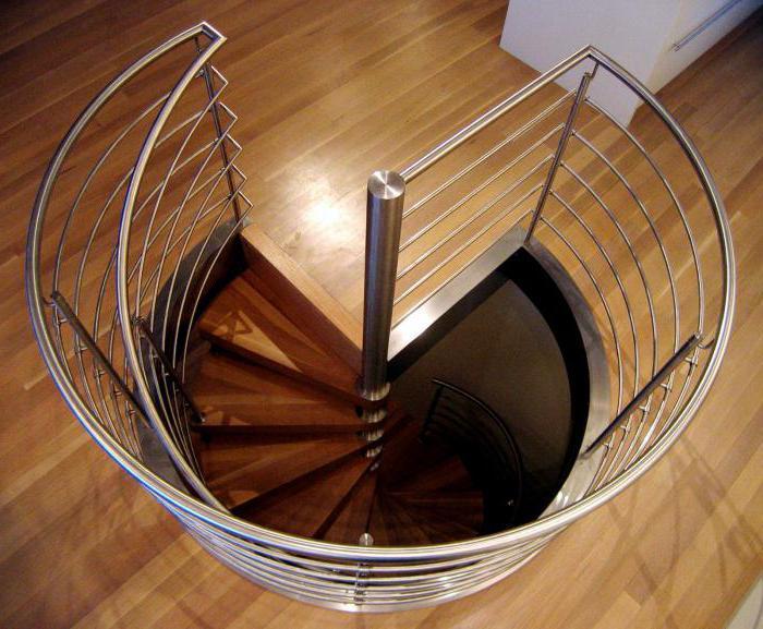 лестничная площадка винтовой лестницы
