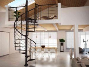 внутренняя металлическая винтовая лестница