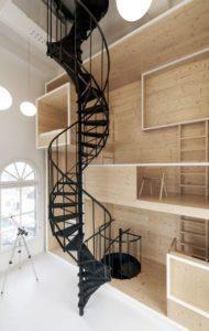 минимальный диаметр винтовой лестницы