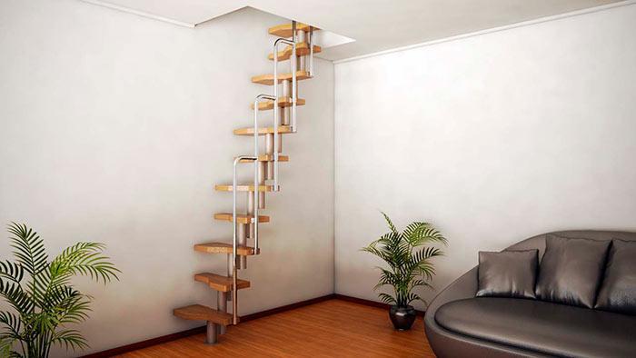 Лестница гусиный шаг на чердак