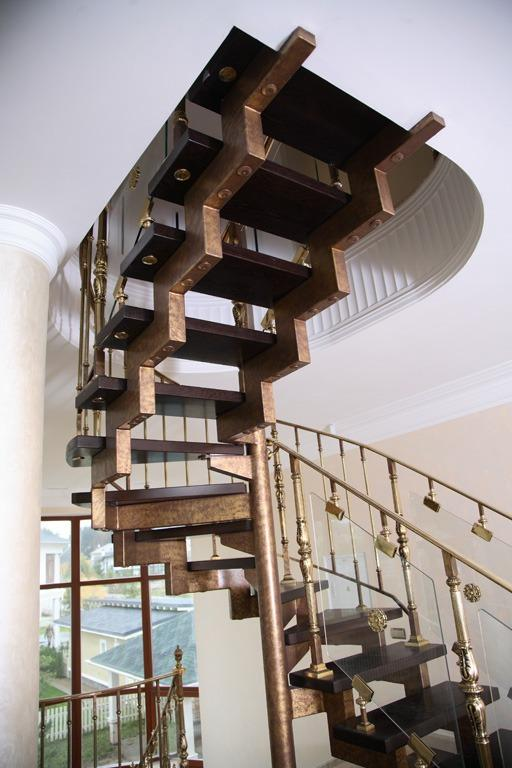 винтовая лестница на двух косоурах