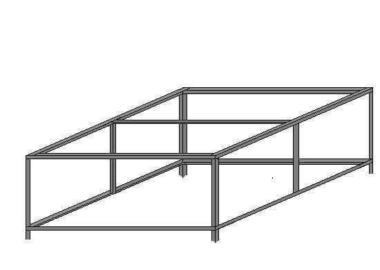 металлический каркас площадки крыльца