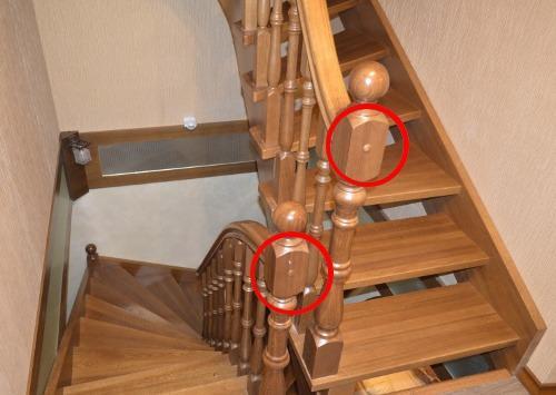 декоративные заглушки деревянной лестницы