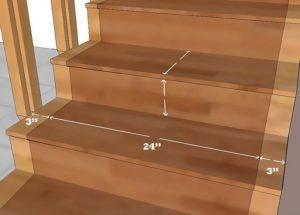как замерить ковровые дорожки для лестниц