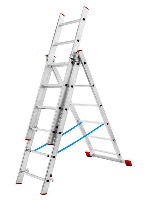 секционная раздвижная лестница