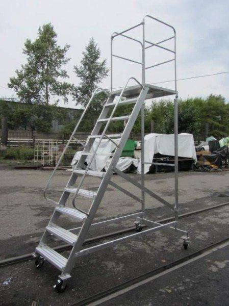 Г-образные лестницы с площадкой
