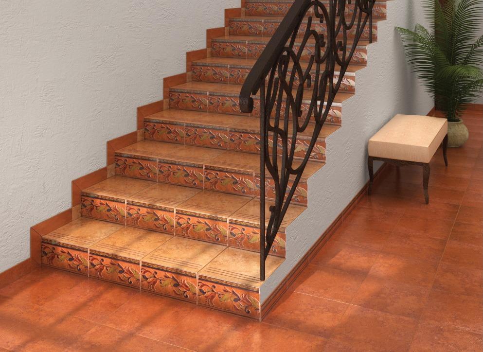 плитка на бетонную лестницу