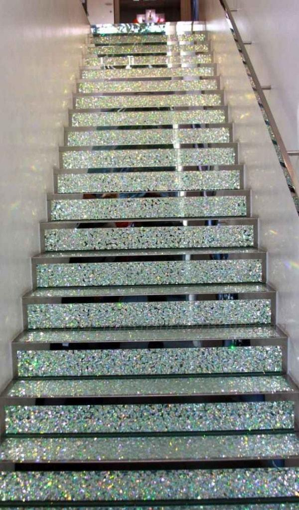 Лестница из кристаллов Swarovski