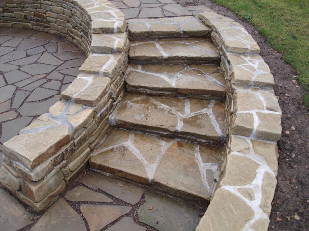 Каменная лестница своими руками