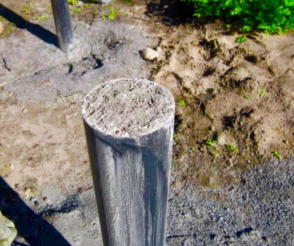 Залитая бетоном