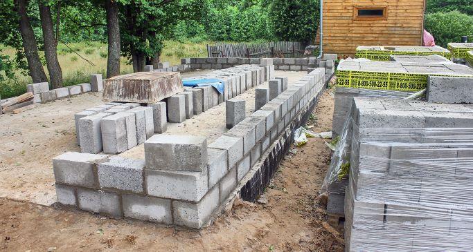 Фундамент для дома из керамзитобетона